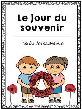 Le Jour du Souvenir - Cartes de vocabulaire