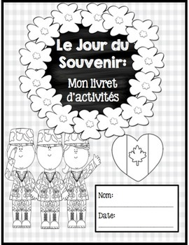 Le Jour du Souvenir (Remembrance Day) - French Immersion Printable