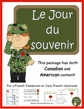 Le Jour du souvenir - French Remembrance Day (French Veterans Day)