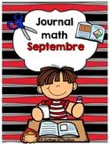 Le Journal math Septembre