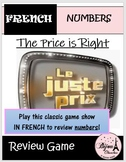 Le Juste Prix: The Price is Right Game in French (Number Review)