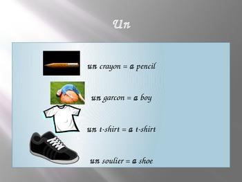 Le, La, Les/Un, Une, Des
