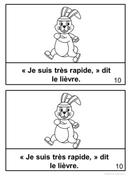 Le Lièvre et la Tortue~ French Turtle & the Hare Fable Reader ~Simplified