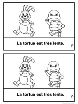 Le Lièvre et la Tortue~ French Tortoise & the Hare Fable Reader ~Simplified