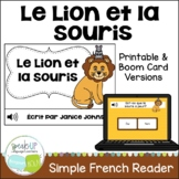Le Lion et la Souris ~ French Lion and the Mouse Fable Reader ~Simplified