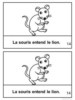 Le Lion et la Souris ~ French Lion and the Mouse Fable Reader ~Simplified