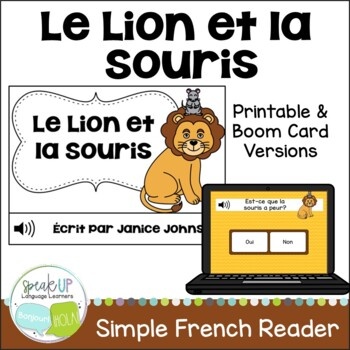 Le Lion et la Souris ~ French Lion and the Mouse Fable Rea