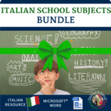 Le Materie - School Subjects in Italian BUNDLE