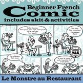 Beginner French Comic and Skit: Le Monstre au Restaurant