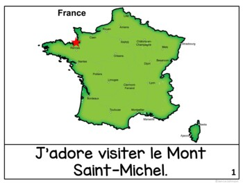 Le Mont Saint-Michel Reader & Vocab work ~ Simplified for Language Learners