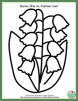 Le Muguet First of May Spring FRENCH Write the Room Activity