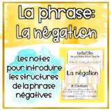 La Négation - Structure de la phrase (Distance Learning)