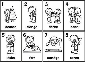 Le Noël Parts of Speech Silly Sentences French Version
