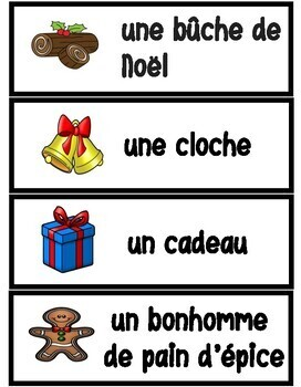 Le Noël - Vocabulaire