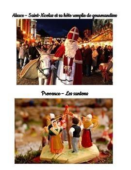 Le Noel en France et le Monde Francophone Stations Authentic Christmas Text