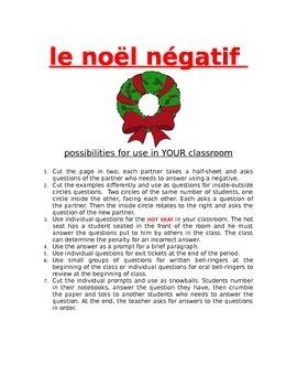 Le Noël négatif FRENCH NEGATIVES