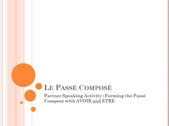 Le P.C. with AVOIR and ETRE : partner speaking activity