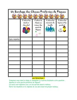 Le Paques/Easter Math Fun Activity Book in French!