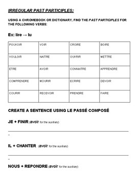 Le Passe Compose Package