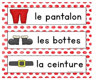 Christmas Themed Emergent Reader in French: Le Père Noël s'habille
