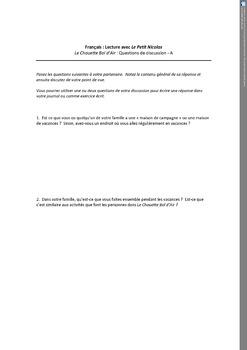 Le Petit Nicolas: Chouette bol d'air Complete Teacher Resources
