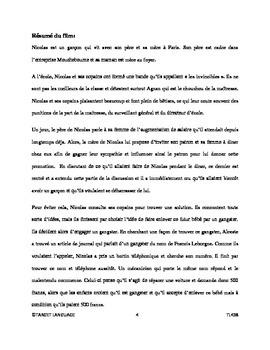 Le Petit Nicolas-French Study Guide