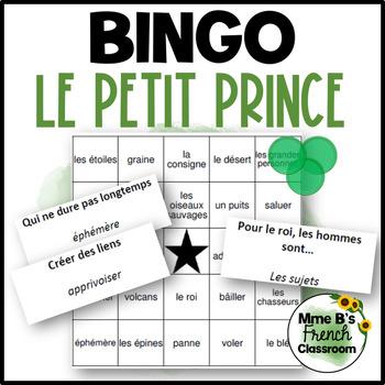 Le Petit Prince Bingo: a whole book review game