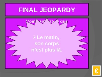 Le Petit Prince Jeopardy Game