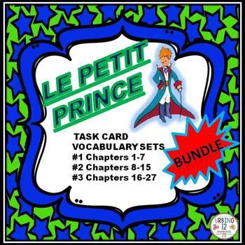 Le Petit Prince Vocabulary Task Card BUNDLE