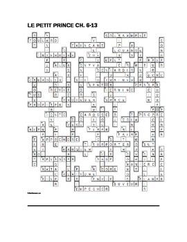 Mots croisés - Le Petit Prince - XW Puzzle Chap 6-13 (French)