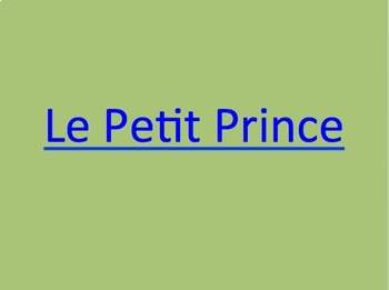 Le Petit Prince : complete novel guide (handouts for every chapter of book)