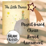 Le Petit Prince: project-based choice board assessment