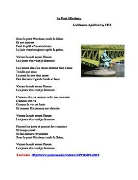 Le Pont Mirabeau poem by Guillaume Apollinaire