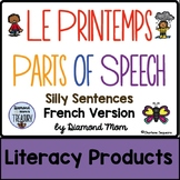 Le Printemps Parts of Speech Silly Sentences French Version