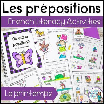 Prépositions (le printemps):  Spring Themed Preposition Mini-Unit in French