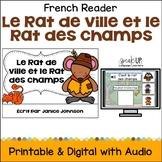 Le Rat de ville et le Rat des champs ~ French Town Mouse Country Mouse Reader