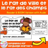 Le Rat de ville et le Rat des champs ~ French Town Mouse Country Mouse Reader