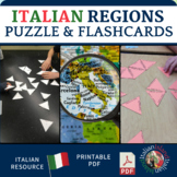 Le Regioni ed i Capoluoghi - Regions and Capitals of Italy Puzzle & Flash Cards
