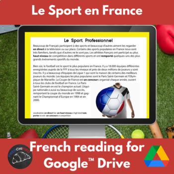 Le Sport en France- readings & activities - Google Drive version