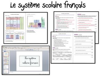 Le Système Scolaire Français/ French School system- Worksheet (Intermediate)