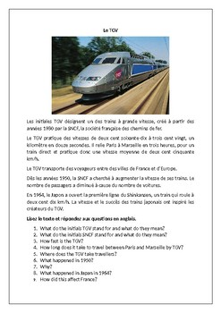 Le TGV / Transport