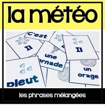 La Météo - Jeu de phrases mêlées