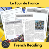 Le Tour de France - reading activity for intermediate/adva