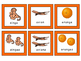 Le Transport-Le Zoo-Les Fruits -Triple Match French Vocabulary Card Game