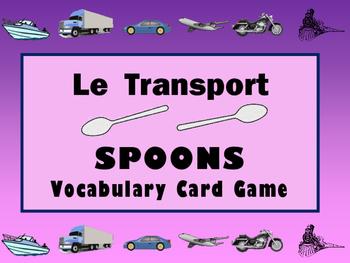 Le Transport Spoons Card Game -The Transportation Vocabula