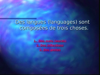 Le Verbe, L'infinitif, La Conjugaison, Le Temps Présent des Verbes er, ir.re