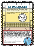 Le Volleyball Ontario Core French IEP activities reading, speaking, writing