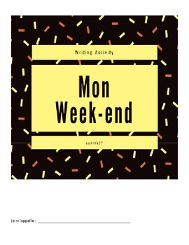 Le Week-end  - French Writing Project