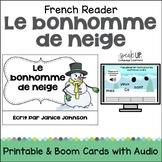 Le bonhomme de neige French Snowman reader {en français} f