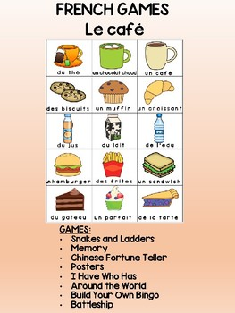 Le cafe -  FRENCH Games